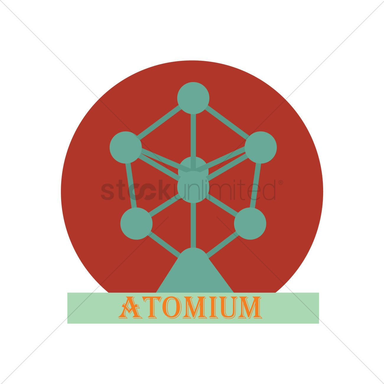 Atomium of brussels Vector Image.
