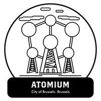 Atomium Vector Image.