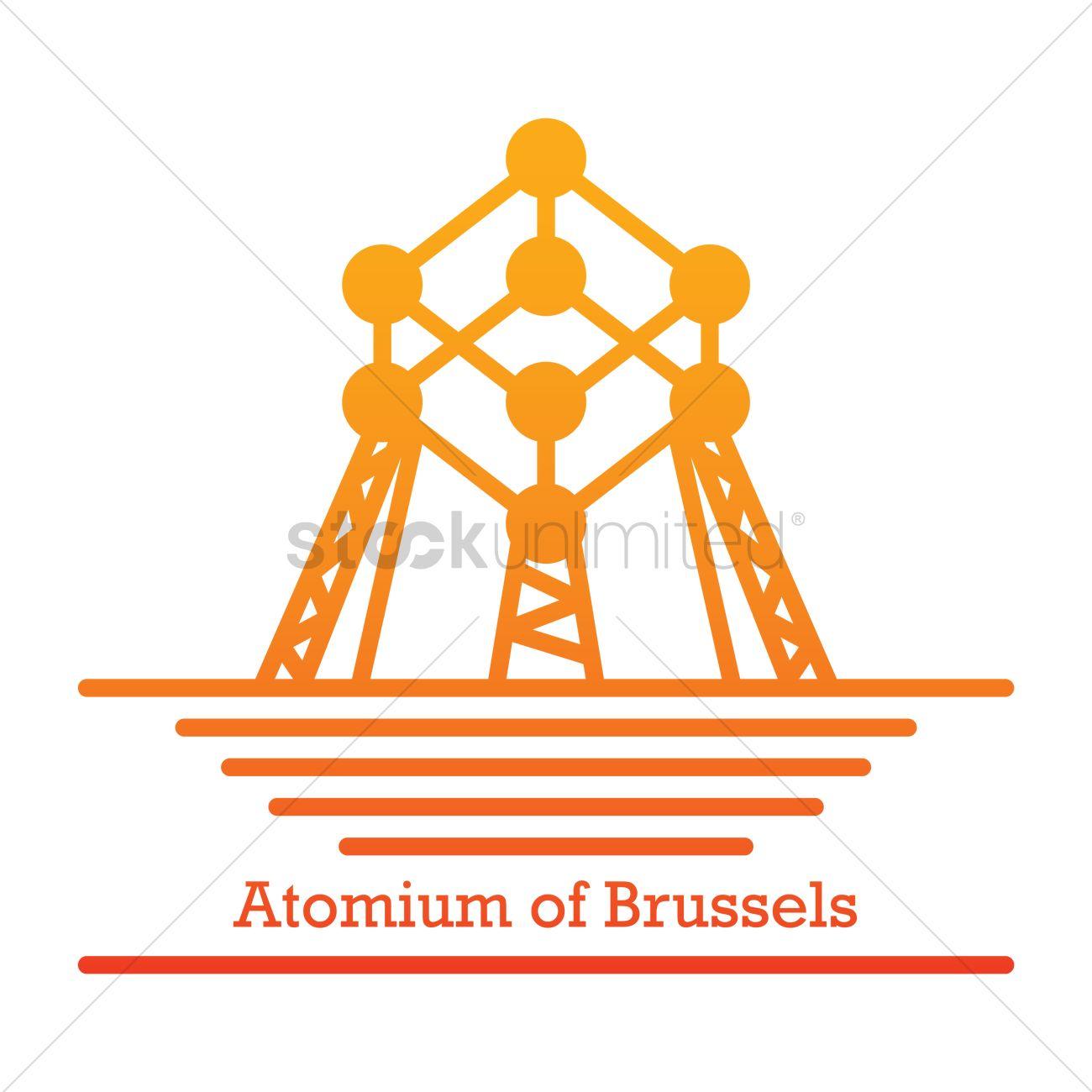 Atomium of brussels Vector Image.