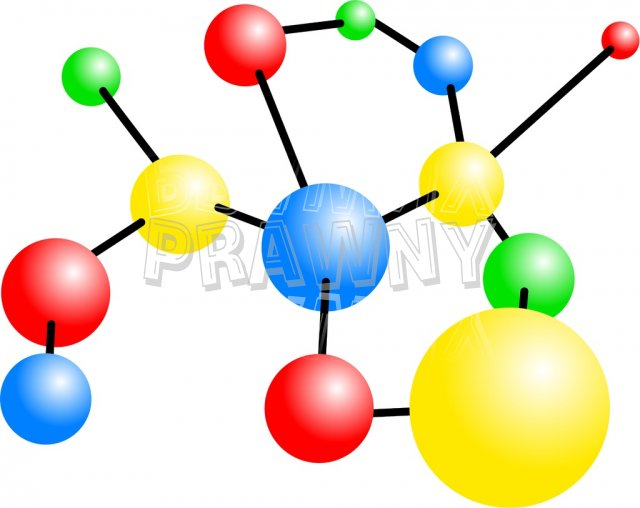 Molecules and atoms clipart.