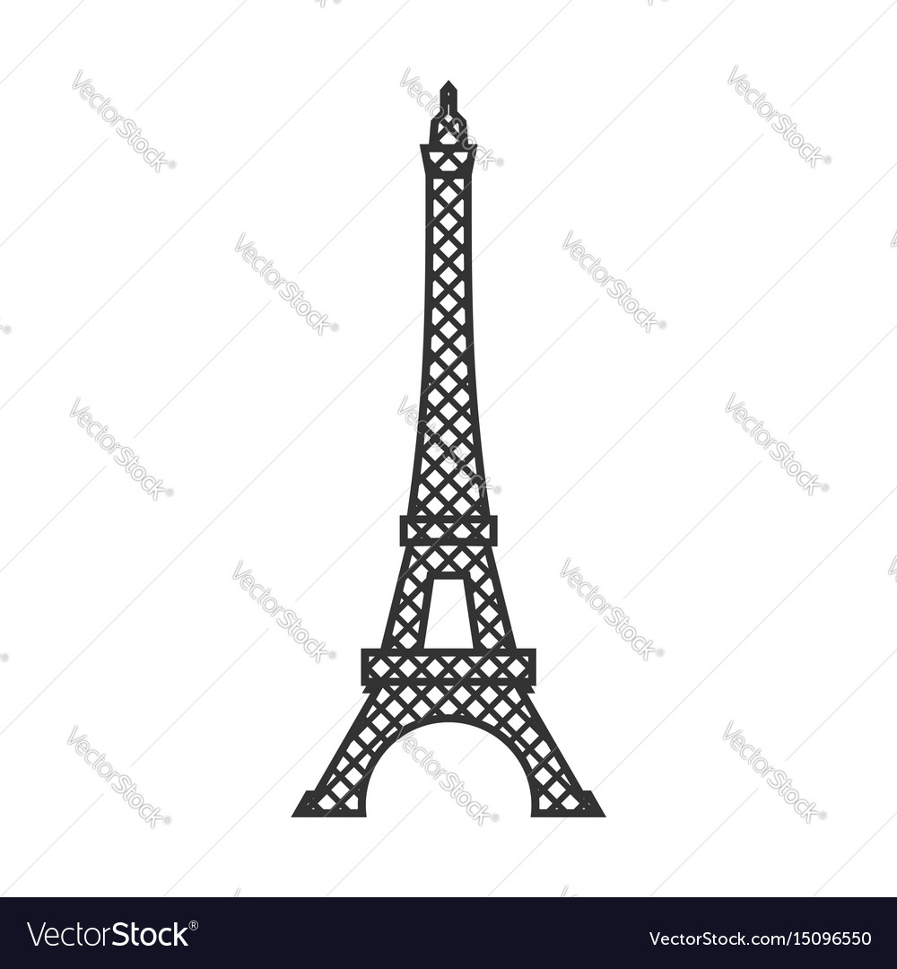 Eiffel tower isolated paris attractions landmark.