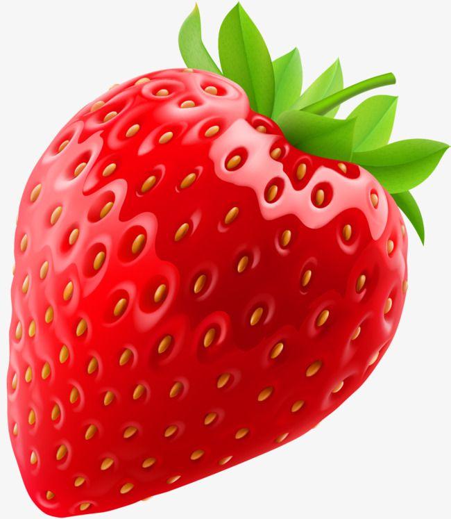 Cartoon Red Strawberry.
