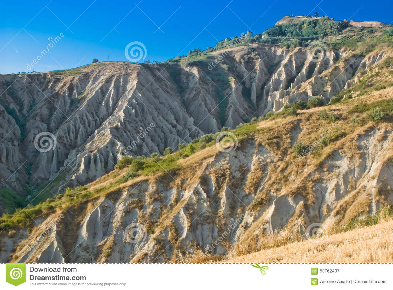 Atri's Badlands, Italy Stock Photo.