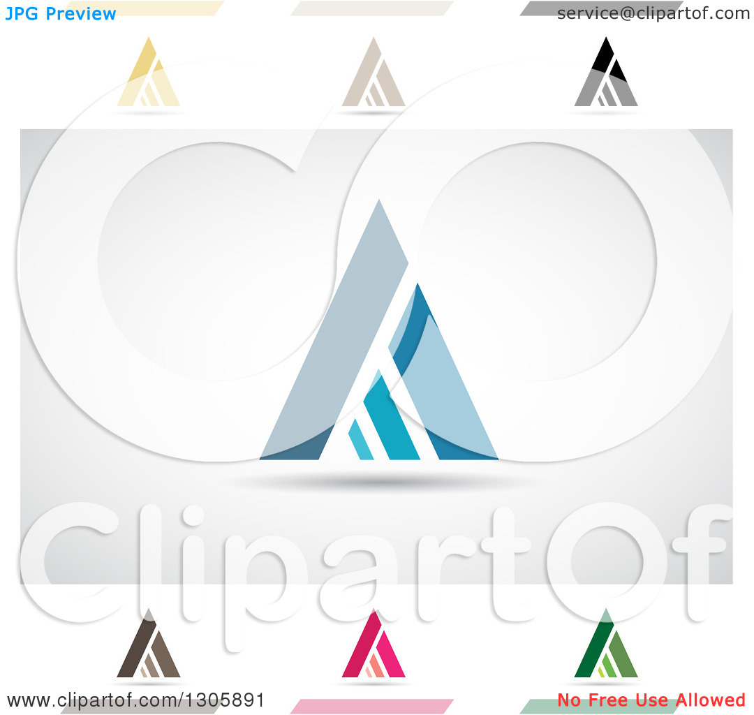 Clipart of Abstract Letter a Atrium Design Elements.