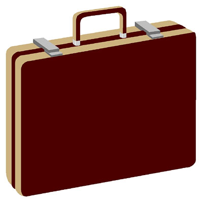 Attache case clipart.
