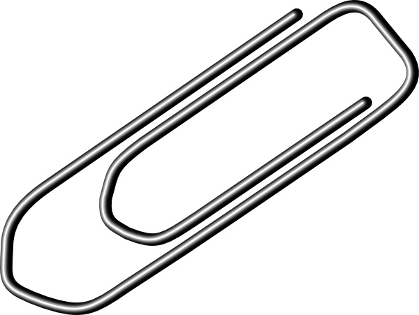 Paper Clip clip art Free vector in Open office drawing svg.