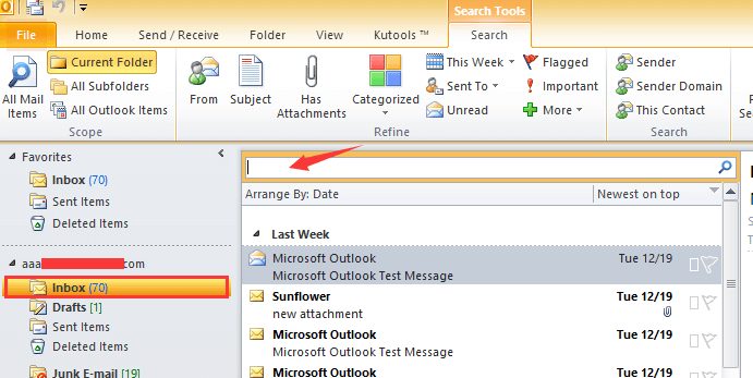 How to list all emails with attachments in Outlook?.