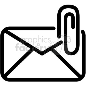 email attachment vector icon . Royalty.