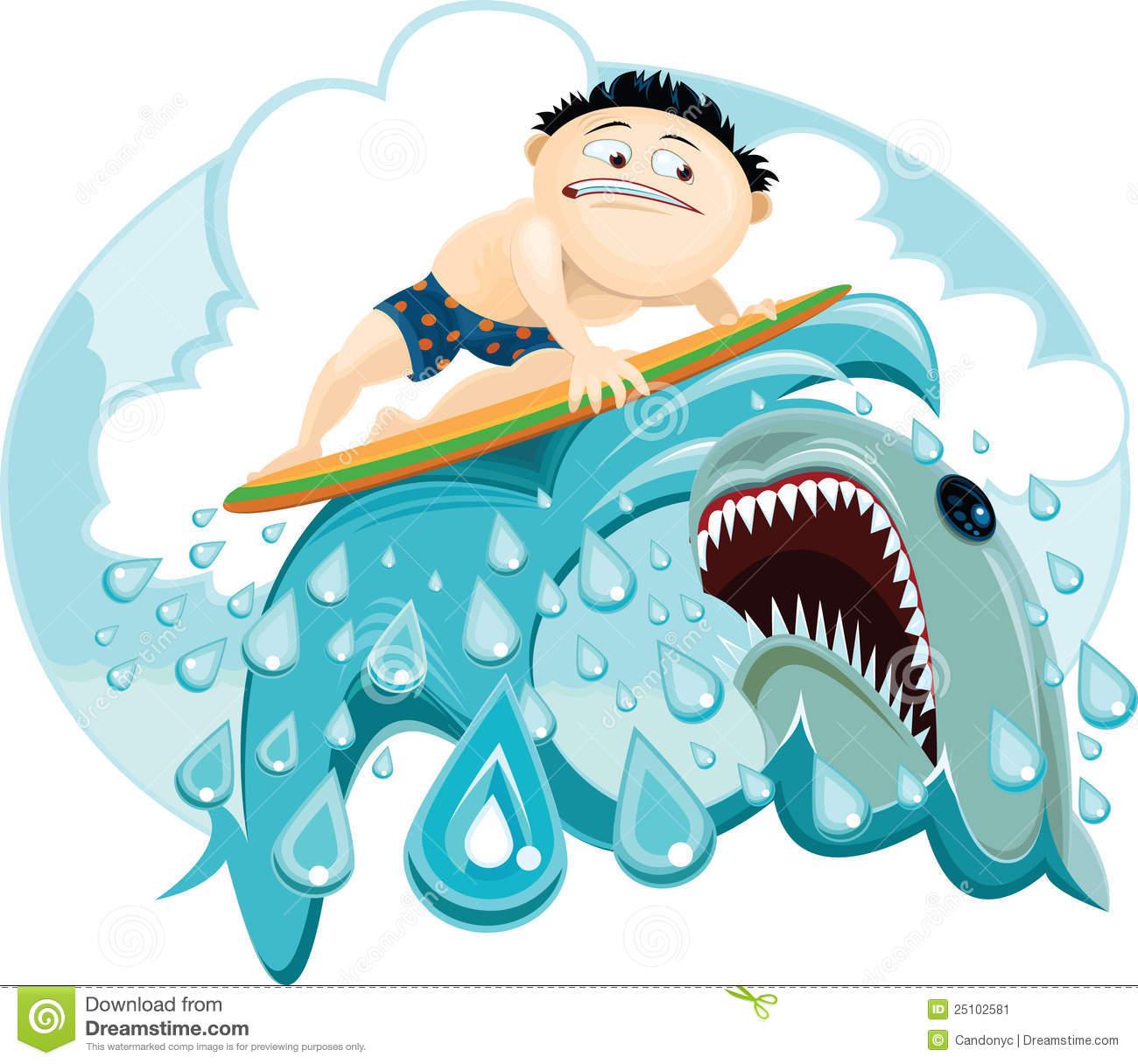 Shark Attack Clipart.