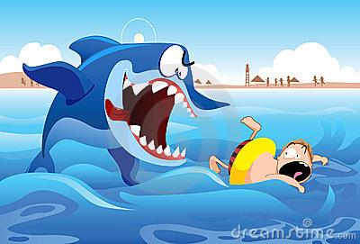 Clipart shark attack.