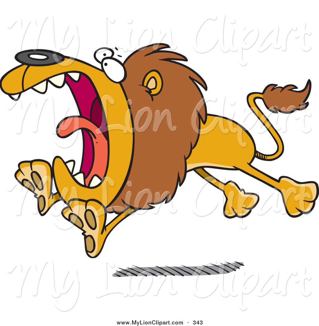 Lion attack clipart.