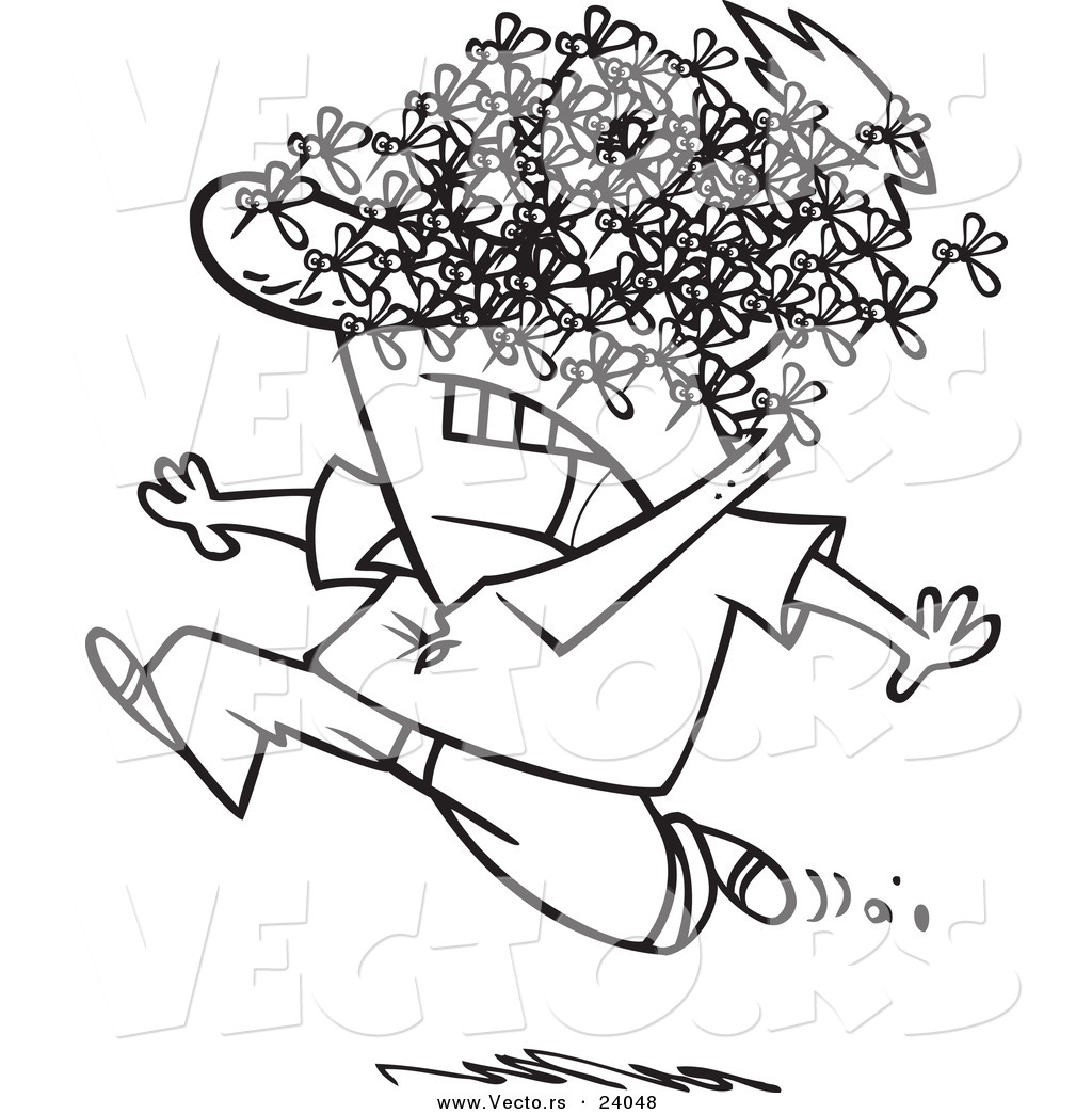 Man clipart being attacked.