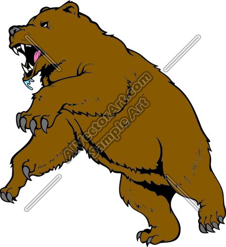 Attacking Bear Clipart.