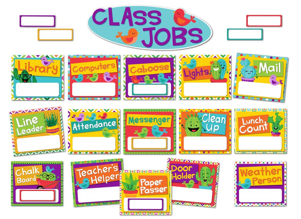 Eureka A Sharp Bunch Classroom Jobs Bulletin Board Set, 40 pcs.