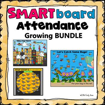 Smartboard Attendance Growing Bundle (Smart Board).