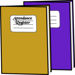 Color Wheel of Attendance Register clipart.
