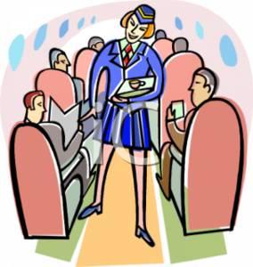Clipart flight attendant.