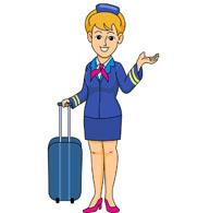 Flight attendant clipart.