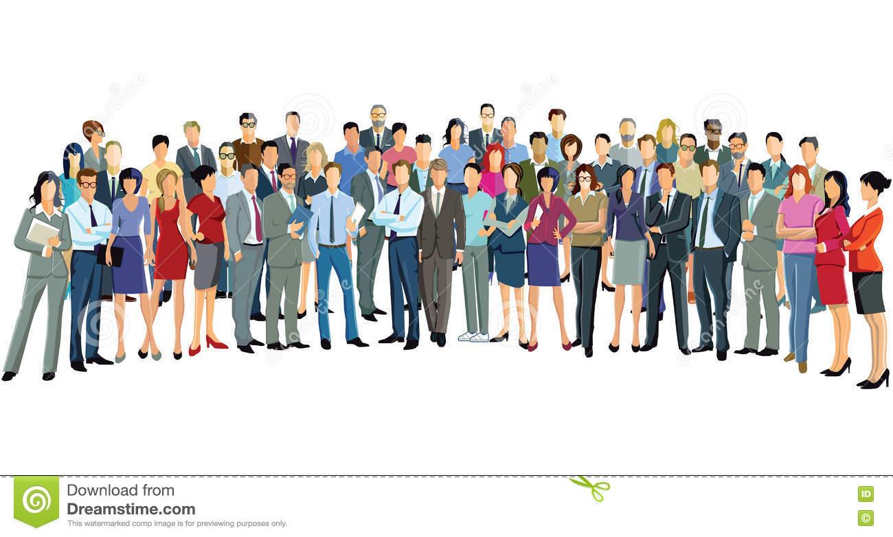 Attendees Stock Illustrations.
