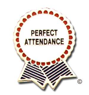 Perfect attendance pins clip art.