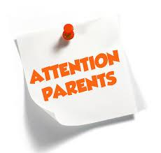 Attention Parents Clipart.