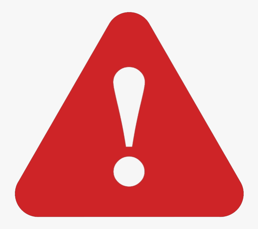 Red Attention Sign Png No Background.