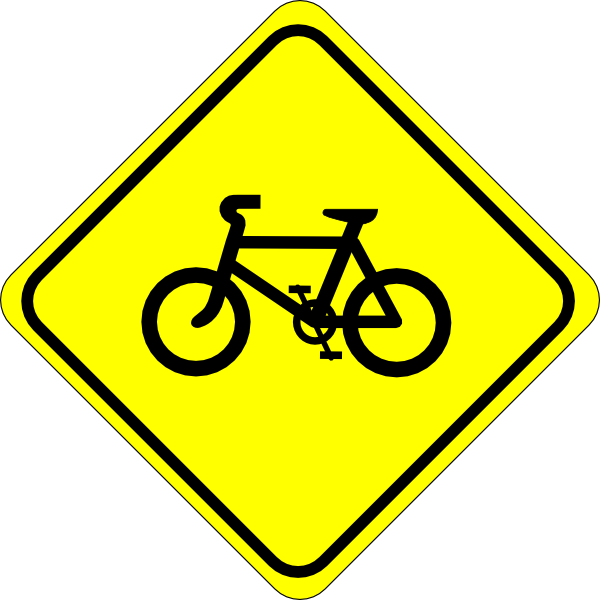 Bicycle Sign Clipart.