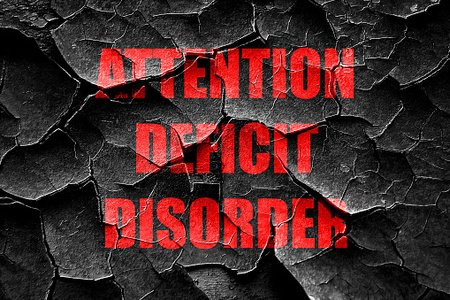 Grunge cracked Attention deficit disorder Clipart Image.