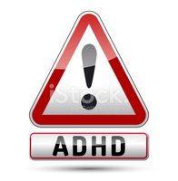 Adhd Attention Deficit Hyperactivity Disorder Isolated Sign.