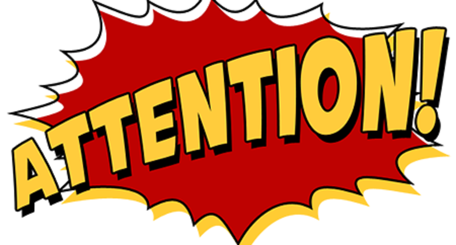 709 Attention free clipart.
