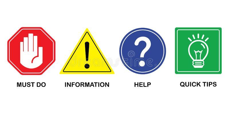 Attention Symbols Stock Illustrations.