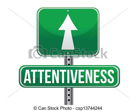 EPS Vector of attentiveness road sign illustration design over a.