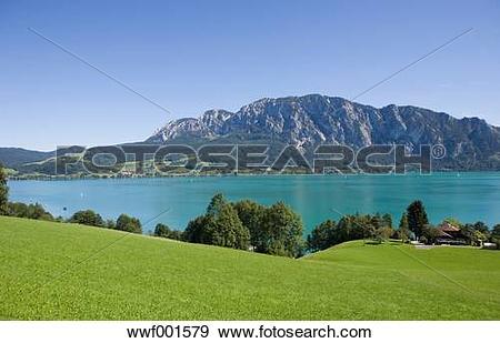 Stock Photograph of Austria, Salzkammergut, View of hoellen.