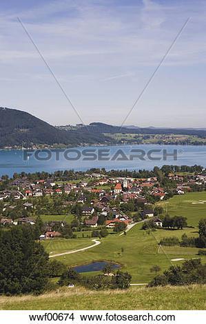Stock Photo of Austria, Lake Attersee, Weyregg wwf00674.