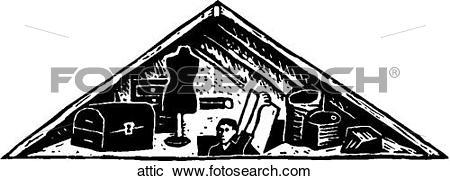 Clipart of Attic attic.