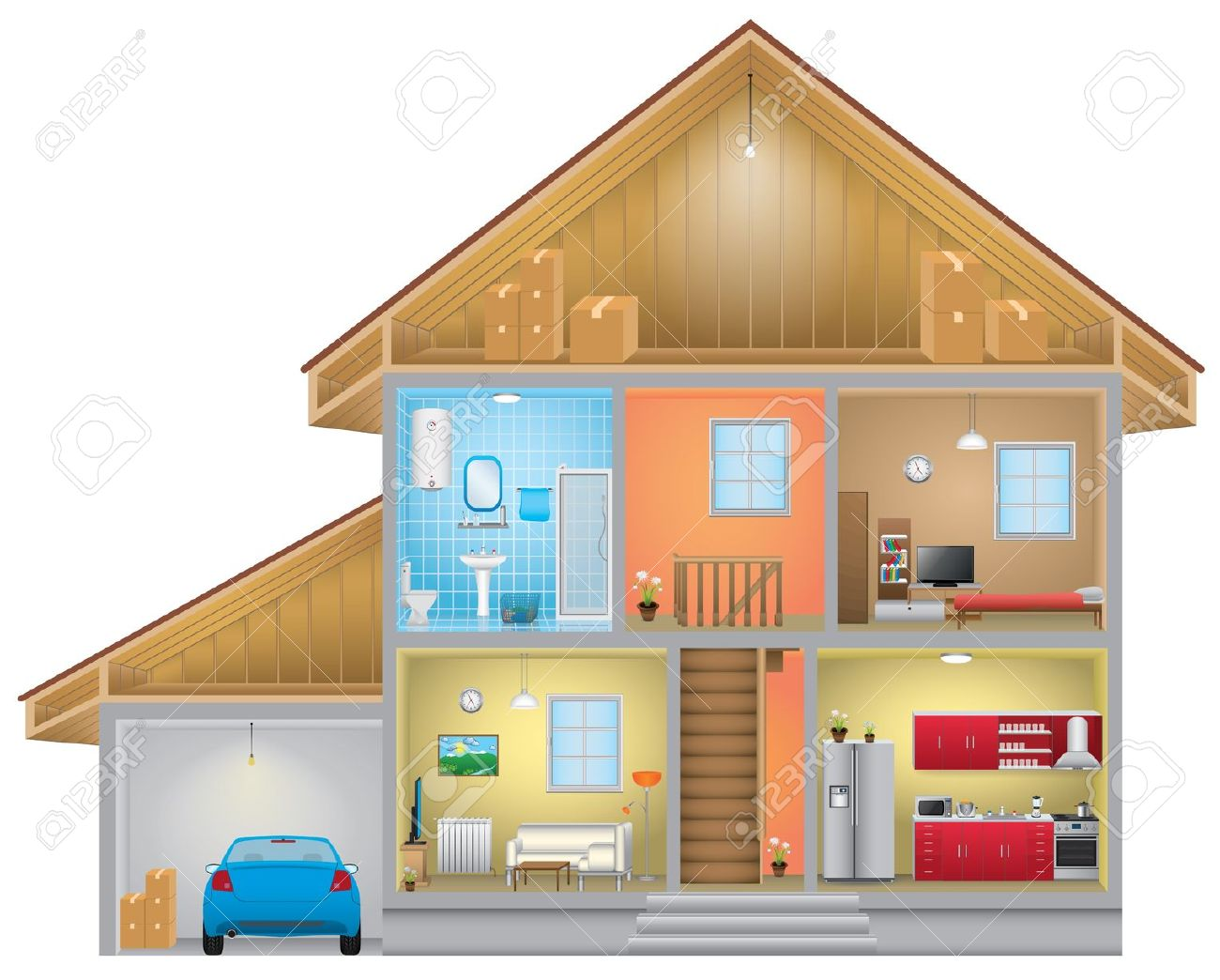 House interior clipart - Clipground