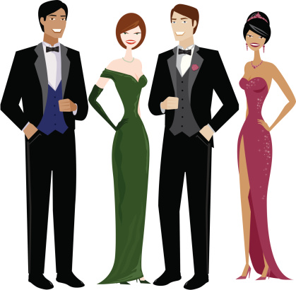 Formal dress attire clipart.