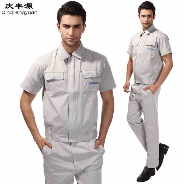 Big Size Suit Sets Men Coveralls Factory Uniforms Safety.