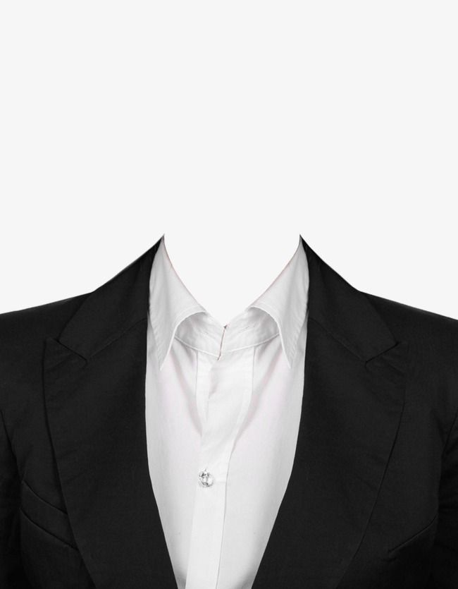 Suit, Black, White PNG Transparent Clipart Image and PSD.