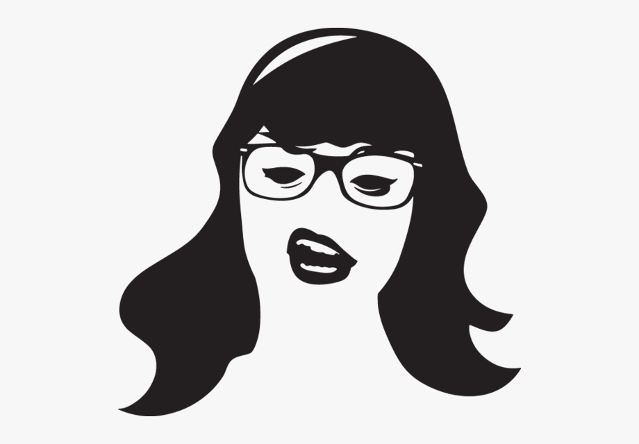 Woman\'s Head With Glasses.