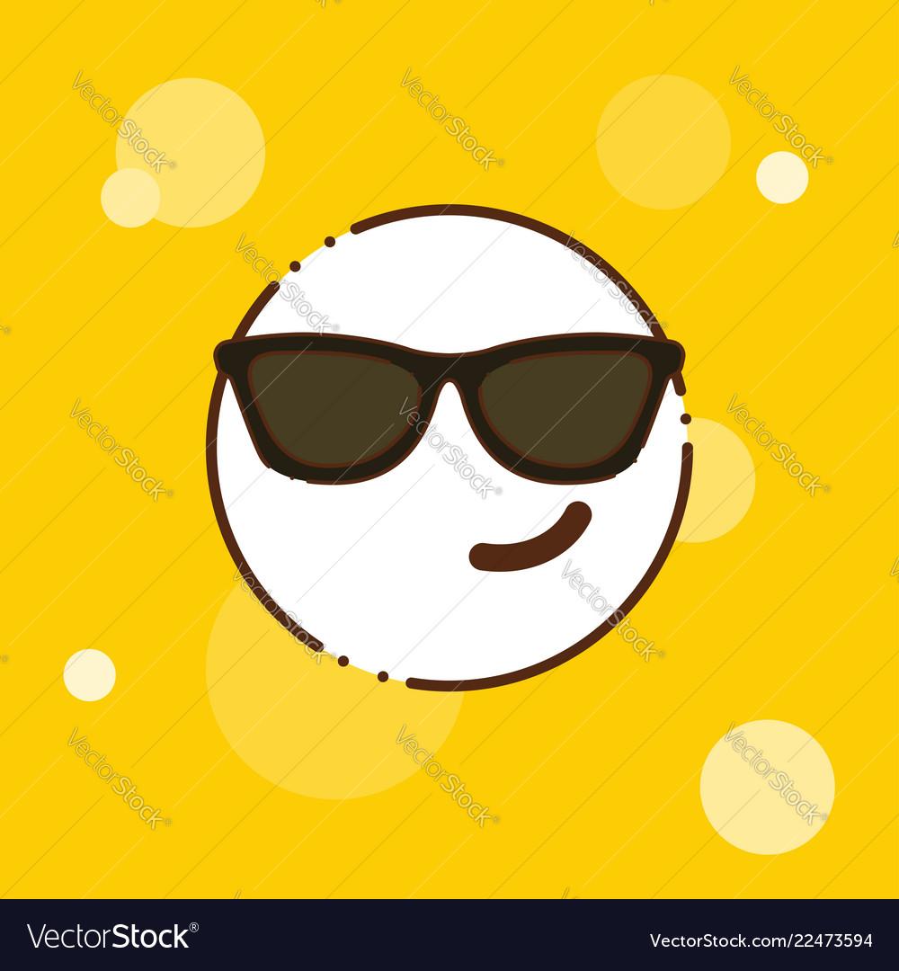 Attitude emoji icon design.