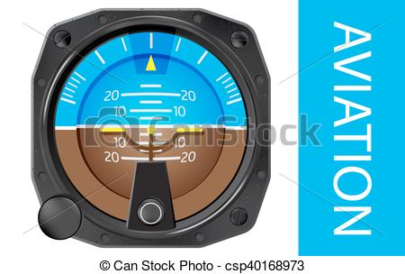 Vectors Illustration of Attitude indicator vector.