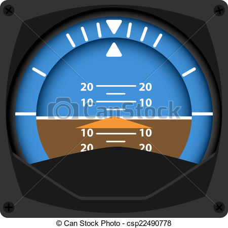 Vectors Illustration of Attitude Indicator.