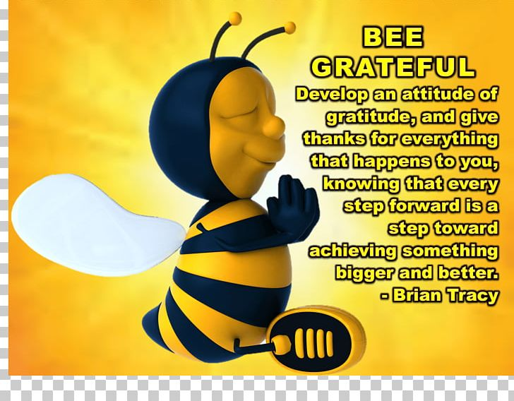 Bee Gratitude Thanksgiving PNG, Clipart, Bee, Bee Thankful.