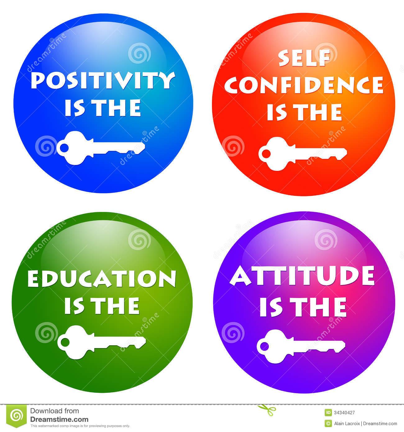 Attitude Keys Royalty Free Stock Photography.