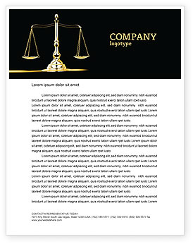 Justice Symbol Letterhead Template, Layout for Microsoft.
