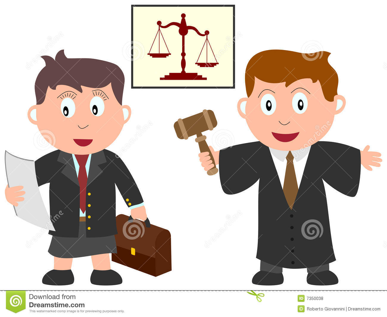Cartoon Lawyer Clipart.