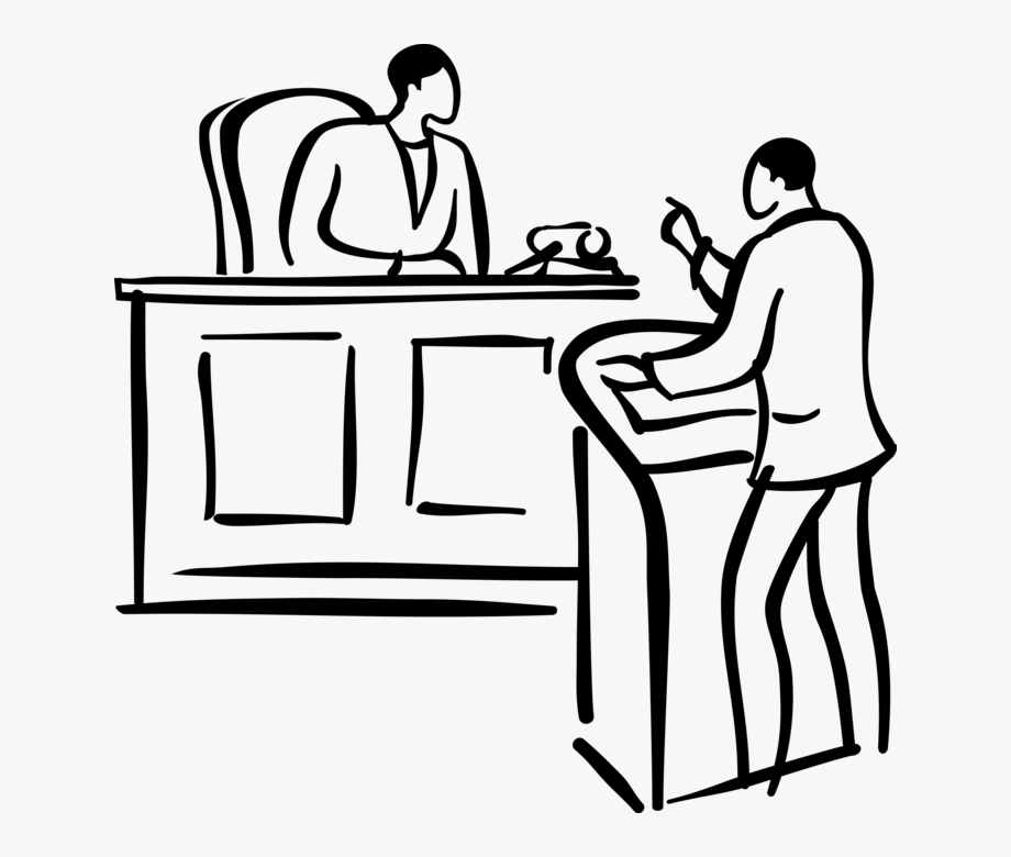 Vector Illustration Of Lawyer Attorney Presents Legal.