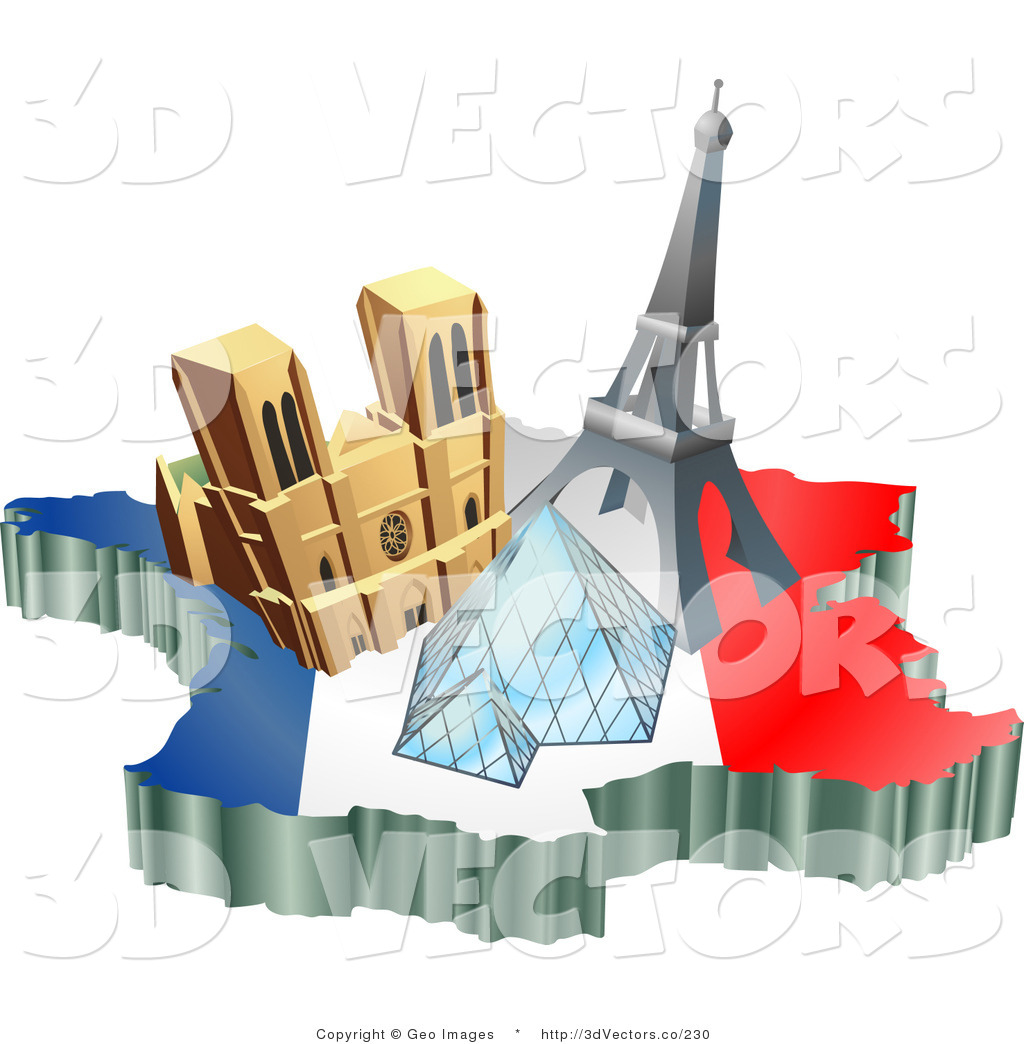 Tourist sight attraction arrow clipart.