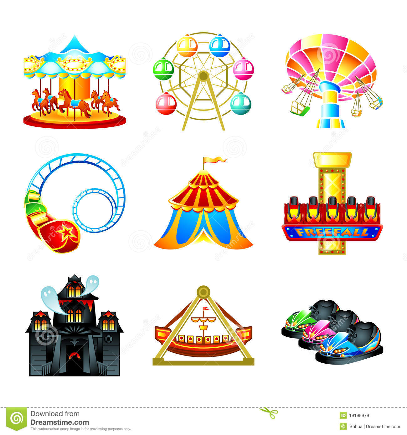 Attraction Stock Illustrations.